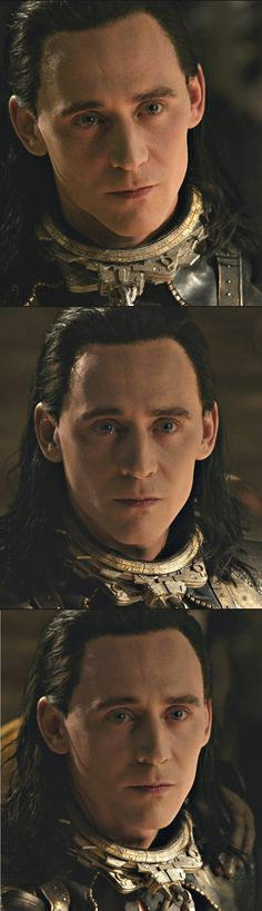 "Tom Hiddleston ""Loki"" Large stills from ""The Dark World"" from http://ask-son-of-laufey.tumblr.com/post/84576176224"