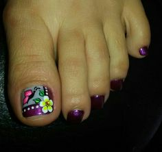 Pedicure Nail Art, Toe Nail Art, Hair And Nails, My Nails, Painted Toe Nails, Nail Place, Smooth Feet, Foot Remedies, Summer Toe Nails