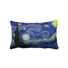 Shop The Starry Night by Vincent van Gogh Lumbar Pillow created by PrintedGifts. Personalize it with photos & text or purchase as is! Van Gogh Art, Art Van, Vincent Van Gogh, Living Room Necessities, Bedroom Night, Bedroom Ideas, Van Gogh Paintings, Vans Shop, Oriental Design