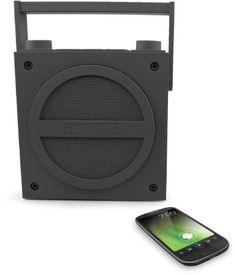 iHome iBT4GC Bluetooth Rechargeable Boombox with FM Radio (Gray). A classic for the digital era. Stream wireless digital audio via Bluetooth from your iPhone, iPad, Android, Blackberry, and other Bluetooth-enabled devices.
