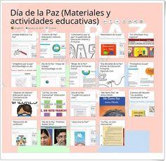 """""""19 materiales y actividades educativas para celebrar el DÍA DE LA PAZ"""" (30 de enero) Journal, Map, Cultural, Socialism, Interactive Activities, Educational Activities, Science Area, Teaching Resources, Social Science"""