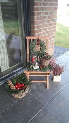 Christmas Decoration & Christmas outside & # - Weihnachtsdeko Outdoor Christmas Decorations, Christmas Centerpieces, Table Decorations, Holiday Decor, Outdoor Decor, Christmas Time, Christmas Wreaths, Christmas Crafts, Xmas