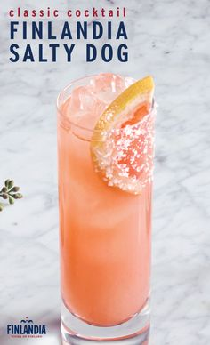 The Salty Dog is a flavorful cocktail that's perfect for enjoying near the beach on a warm spring day. Made with 1.5oz Finlandia Grapefruit Vodka and 4oz of pink grapefruit juice. This sweet drink is garnished with a slice of grapefruit. Click here to see more delicious cocktail recipes.