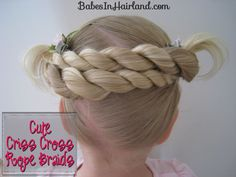 Cute Criss Cross Twists for toddlers from BabesInHairland.com #toddlers #hair #hairstyle #babyhair