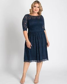12120901 Trendy Plus Size Clothing, Plus Size Dresses, Plus Size Outfits, Plus Size Fashion, Nice Dresses, Casual Dresses, Dresses With Sleeves, Lace Overlay Dress, Lace Dress