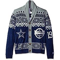 cb0f08ea3fc NFL Dallas Cowboys Men s 2015 Ugly Cardigan Sweater
