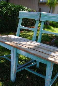 How To Make a Chair Bench - REASONS TO SKIP THE HOUSEWORK