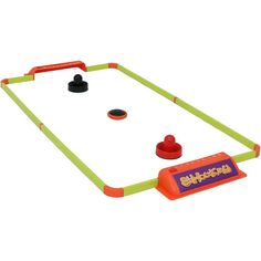 Challenge a friend or family member to a friendly game with the Sunnydaze Tabletop E-Hockey Game Set. You can now bring the classic hockey arcade game to your home or on the go with this portable game set. This game can be set up on a table with a smooth surface. Each set includes 1 table hockey frame, 2 strikers, 1 rechargeable puck and 1 USB charging cable. The frame is made of durable metal with plastic goals on both ends and is easy to assemble and take apart.