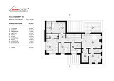 Projekt domu HomeKONCEPT-40 | HomeKONCEPT Floor Plans, House, Projects, Floor Plan Drawing