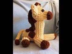 How to Loom Knit a Giraffe