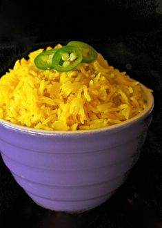 This Spicy Turmeric-Coconut Basmati Rice is a lovely side dish that will brighten any plate with its gorgeous, bright golden-yellow color. Recipes using fresh turmeric are aromatic, earthy, and have subtle notes of citrus and ginger Coconut Basmati Rice, Basmati Rice Recipes, Air Fryer Recipes, Fresco, Indian Food Recipes, Vegetarian Recipes, Healthy Recipes, Egyptian Food, Egyptian Recipes