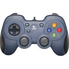 Logitech - F310 Gaming Pad - Blue/Black - Larger Front