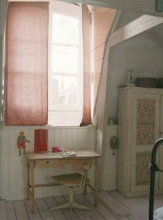lovely curtains.  simple and the perfect shade of pink