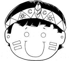mascara-dia-do-indio-colorir-imprimir.jpg (576×509)