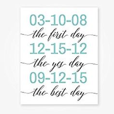 """Personalized Anniversary Gifts for Couple - Wedding Gift - 8x10"""" Art Print UNFRAMED"""
