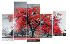 Cuadro árbol rojo