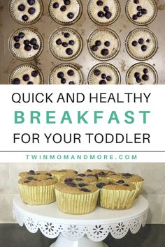 Super easy and healthy breakfast for your toddler! This muffin recipe is free of sugar, dairy, and wheat and is full of deliciousness! #breakfast #healthybreakfast #glutenfreebaking #glutenfreemuffin #glutenfree #breakfastrecipe #glutenfreerecipe #blendermuffin #bananablendermuffin