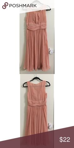 "peachy midi dress midi flowy peach colored dress! goes down to a little past your knees, super cute, can be dressed up or down depending on how you style it!! super cute!   *dimensions: 42"" long, Dresses Maxi"