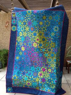 """Tide Pool Nebula"" My one-block-wonder made from Kaffe Fassett Fabric completed 2014"