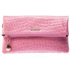 Fashion Elegant Pink Leather Clutch BG0010102-1