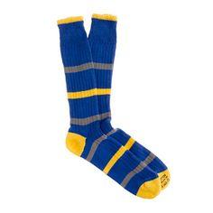 Corgi - stripe socks