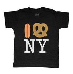 PiccoliNY Hot Dog Pretzel NY Black Tee – Piccolini NYC