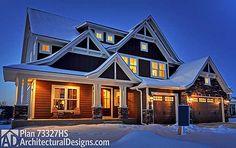 *Distinctive Craftsman Dream Home Plan Evening view