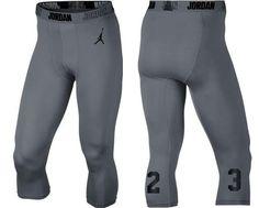 9b53b1c6f857 Nike Mens Jordan AJ All Season 23 Compression 3 4 Pants XLarge Blue 814656-