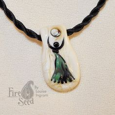 Dancing Goddess Pendant by Louise Ingram Handmade by Fireseed, $50.00