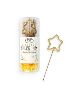 gold star sparklers....these could be fun, a little change from the traditional sparkler--as we exit the church!