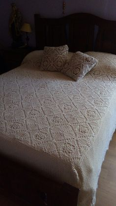 Crochet Bedspread Pattern, Bed Spreads, House, Furniture, Home Decor, Bedspread, Bedspreads, Toss Pillows, Decoration Home