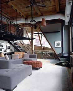 A little loft inspo! The West Loop Loft is designed by Scrafano Architects and is located in // Photo by Catherine Tighe - Architecture and Home Decor - Bedroom - Bathroom - Kitchen And Living Room Interior Design Decorating Ideas - Loft Design, House Design, Loft Interior Design, Garden Design, Architecture Design, Industrial Living, Industrial Style, Industrial Design, Vintage Industrial