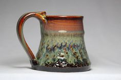 stoneware pottery mug 10oz travel mug by DrostePottery on Etsy