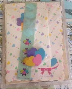 very vintage HTF incomplete hearts sanrio 1983&1984 stationary letter sets