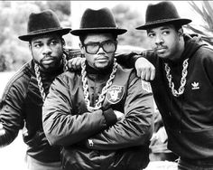 80s fashion hiphop Run DMC with gold chain and Cazal Glasses