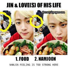 1.Food 2.Namjoon 3.Himself ahaha ❤ NAMJIN #BTS #방탄소년단