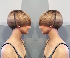 bowl cut for thick hair