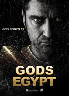 "Gerard Butler: GODS OF EGYPT - scheduled release date April 8, 2016. Mark your calendars! (this may not be an ""official"" poster but it's cool anyway!)"