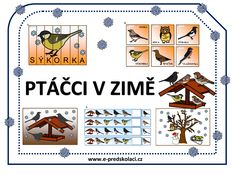 Ptáčci v zimě Winter Crafts For Kids, Winter Time, Preschool Activities, Free Printables, Playing Cards, Classroom, Birds, Teaching, Education