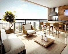 Varandas, terraços e sacadas