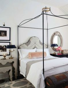 love the bed and how the side tables were decorated