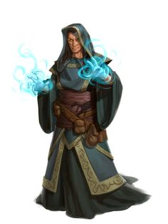 human robed mage