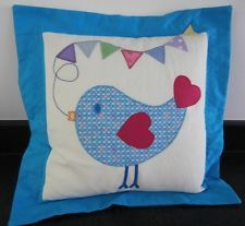 "BIRD & BUNTING APPLIQUE CUSHION COVER * 14"" x 14"""
