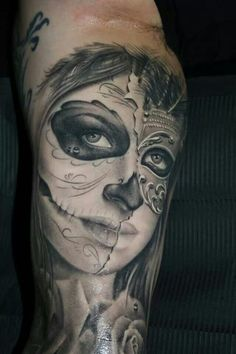 ♡ Day of the dead tattoo