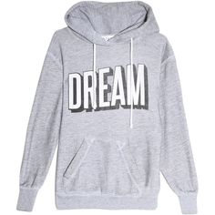 WILDFOX Dream Hoodie (225 BAM) ❤ liked on Polyvore featuring tops, hoodies, sweaters, outerwear, shirts, grey shirt, gray hooded sweatshirt, hoodie shirt, gray hoodies and grey hooded sweatshirt