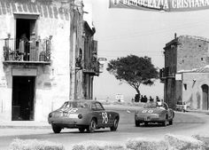 Targa Florio 1963 , Lancia Flaminia Zagato (Artunoff-Pryor) and Lancia Aurelia (de Tommasi / de Leo).