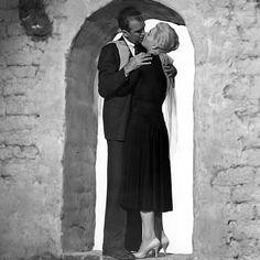 Jimmy Stewart and Kim Novak in Alfred Hitchcock's VERTIGO ('58)