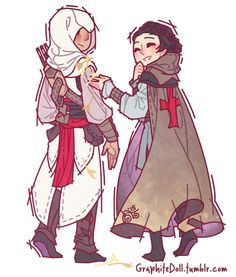 Altair and Maria - GraphiteDoll@Tumblr