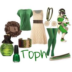 """""""Toph"""" by cloudstorm101 on Polyvore..... Toph's spunkyness was one of the reasons she was one of my favorite characters, so of course I have to pin this!"""