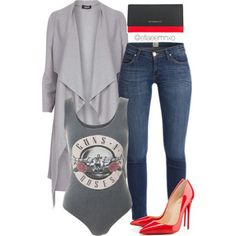 A fashion look from August 2015 featuring Dorothy Perkins jackets, Christian Louboutin pumps and Givenchy wallets. Browse and shop related looks.